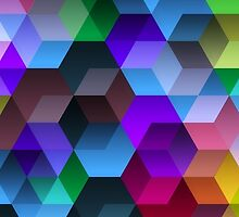 Kaleidoscope. Color hexagons. by Denys Golemenkov
