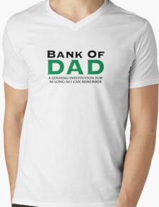 Bank Of Dad Mens V-Neck T-Shirt