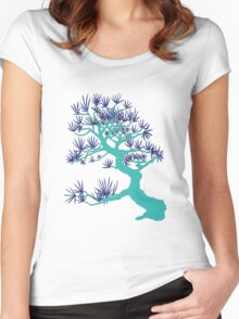 Turquoise Pine Bonsai Women's Fitted Scoop T-Shirt