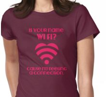 Wi Fi Valentines Womens Fitted T-Shirt