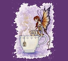 Warm Toes Tea Faery by AmyBrownArt