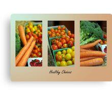 Healthy Choices Canvas Print