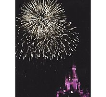 Cinderella's Castle at Night by downtowndesigns