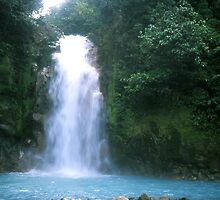 Rio Celeste (blue river) Waterfall by Guy Tschiderer
