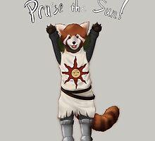 Sun Warrior Red Panda! by Menebunny