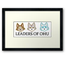 Great leaders Framed Print
