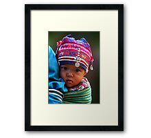 AKHA BABY - GOLDEN TRIANGLE Framed Print