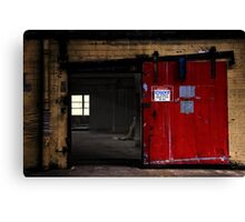 Authorized persons only  Canvas Print