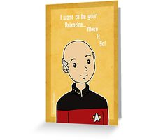 Star Trek Captian Picard Valentine Greeting Card