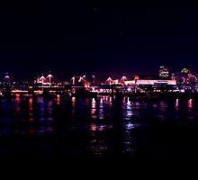 London city at night view by Sam Hunter
