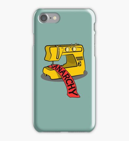 Anarchy Sewing Machine iPhone Case/Skin