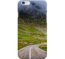 Winding road in mountains iPhone Case/Skin