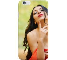 Sexy lady in red dress iPhone Case/Skin