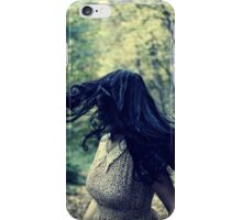 Scared girl running in the forest iPhone Case/Skin