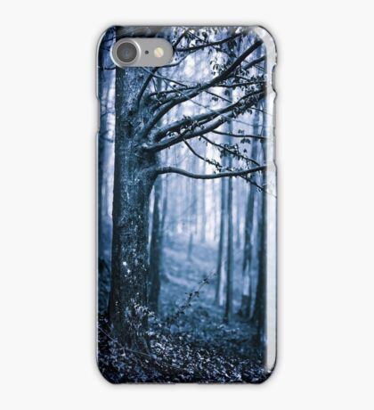Scary forest at night iPhone Case/Skin