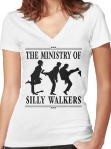 The Ministry of Silly Walkers Women's Fitted V-Neck T-Shirt