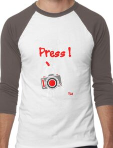 Red - The New Guy - Let me pass .. Press ! Men's Baseball ¾ T-Shirt