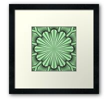 Abstract Flower in Green Framed Print