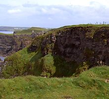 NI - NorthEast coastline ... looking toward Dunluce Castle ruins by SNAPPYDAVE