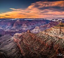 Sunset over Grand Canyon by louishay