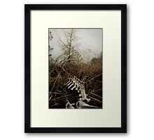 I fell down and I couldn't get up. Framed Print