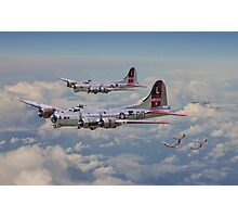 B17- 381st Bomb Group en-route Photographic Print