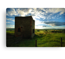 Old Mine Wheel House Canvas Print