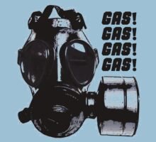 Gas Gas Gas Gas Mask T-shirt by Rob Davies