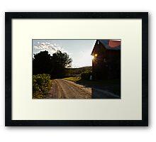 A Golden Ray Framed Print