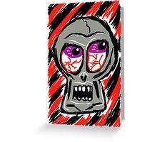 Punk Rock Skull Greeting Card