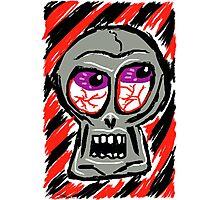 Punk Rock Skull Photographic Print