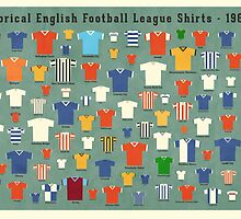 Historical English football league shirts - 1960/61 by Daviz Industries