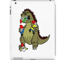 Godzilla Monster and Gnomes iPad Case/Skin