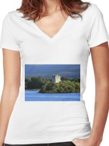 Ross Castle - Killarney - Ireland Women's Fitted V-Neck T-Shirt