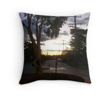 Sunset over the Suburbs Throw Pillow