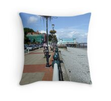 The Promenade at Pennarth Beach (South West Wales UK) Throw Pillow
