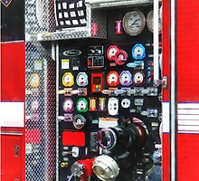 Firemen - Colorful Gauges on Fire Truck by Susan Savad