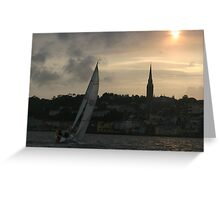 sail into a cobh sunset Greeting Card