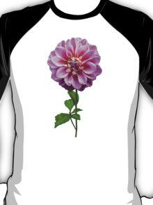 Pink Dahlia in the Rain T-Shirt