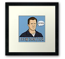 The janitor Framed Print