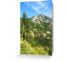 Lean In - A Mountain Lake Impression Greeting Card