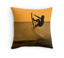 surfing aerialist Throw Pillow