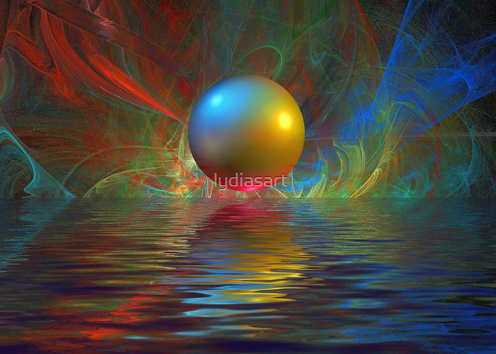 Abstract Sphere by lydiasart