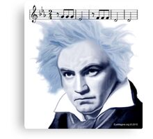 Beethoven and Fifth Symphony Opening Notes Canvas Print