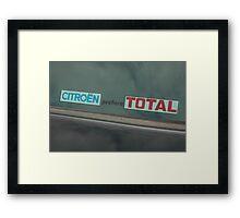 Citroen marketing sticker Framed Print