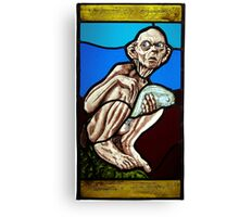 Gollum (Stained Glass) Canvas Print