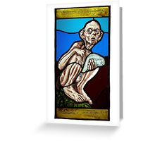 Gollum (Stained Glass) Greeting Card