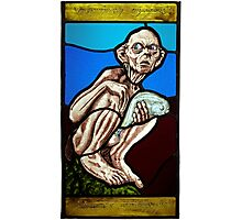 Gollum (Stained Glass) Photographic Print