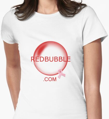 Redbubble.com cancer research support Womens Fitted T-Shirt