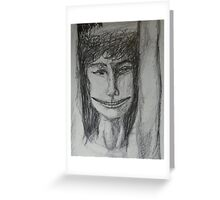 Roxanne - A Portrait Drawing Greeting Card